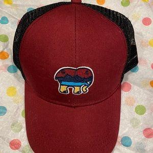 Ivory Ella Maroon Trucker Hat, only worn once